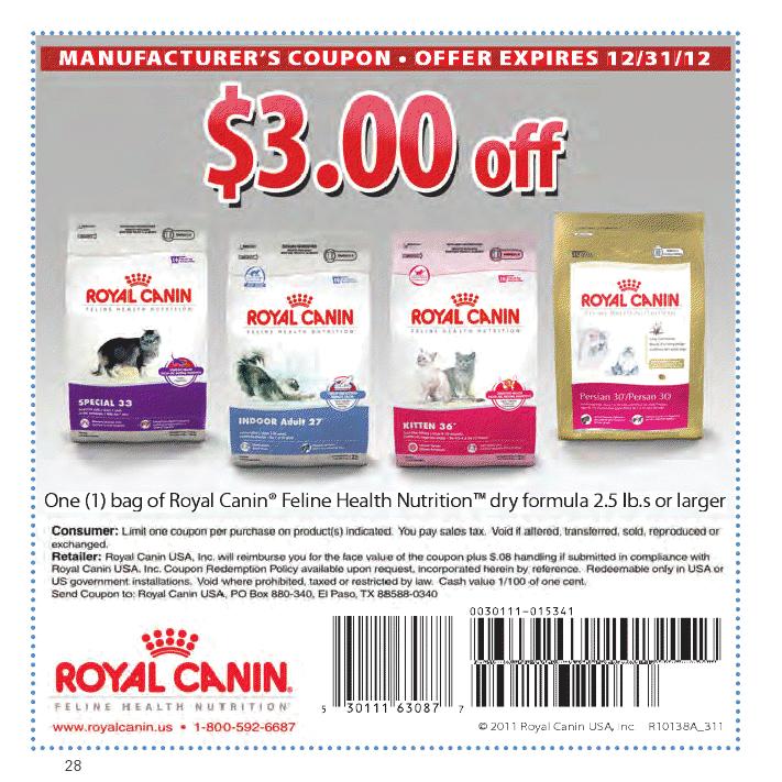 Coupon Royal Canin Cat Food