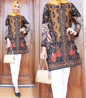 model baju batik gamis pesta