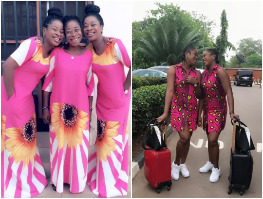 The Aneke twins rock matching outfits with their mum (Photo)