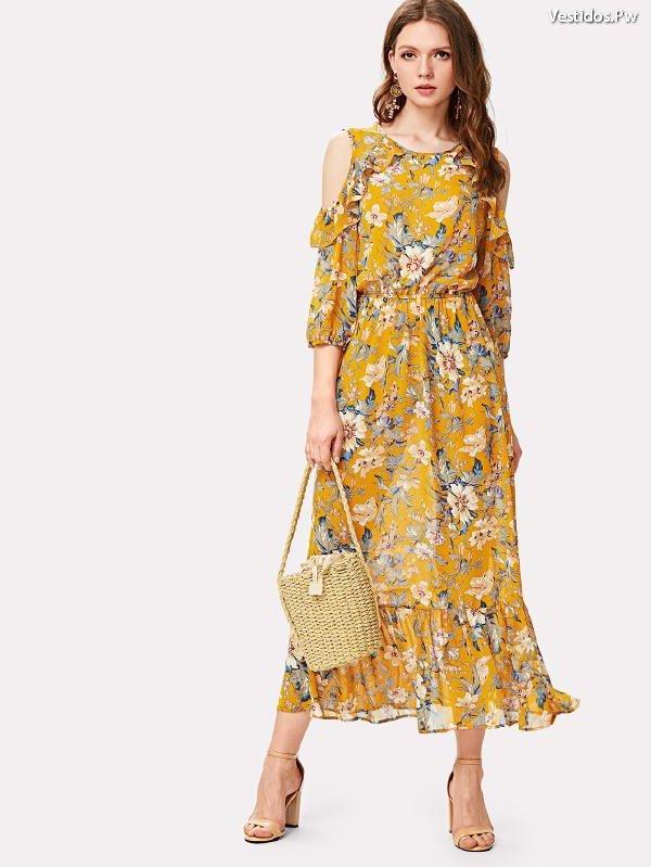 Vestidos estampados floreados para gorditas