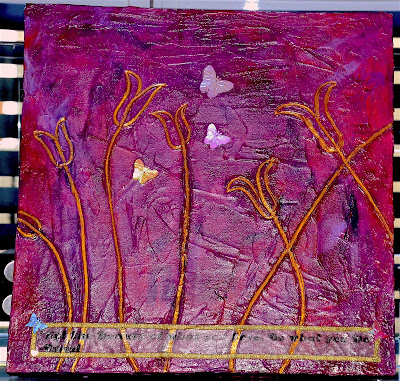 Mixed Media on Wooden Canvas @The Art of Creativity Studio