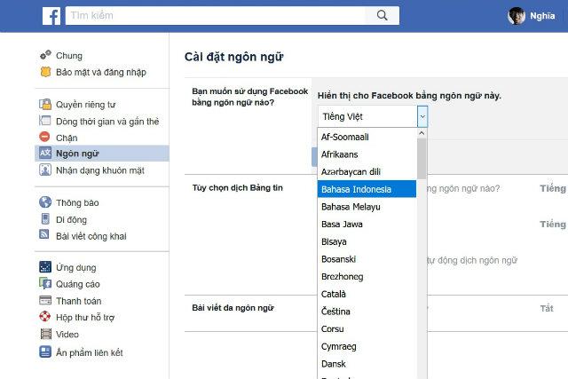 đổi tên facebook 1 chữ mới nhất 2