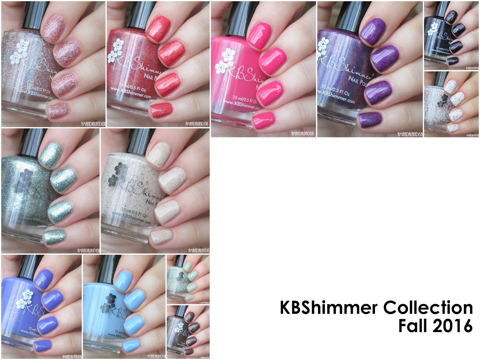Amandalandish: KBShimmer Fall 2016 Collection | Swatches and Review