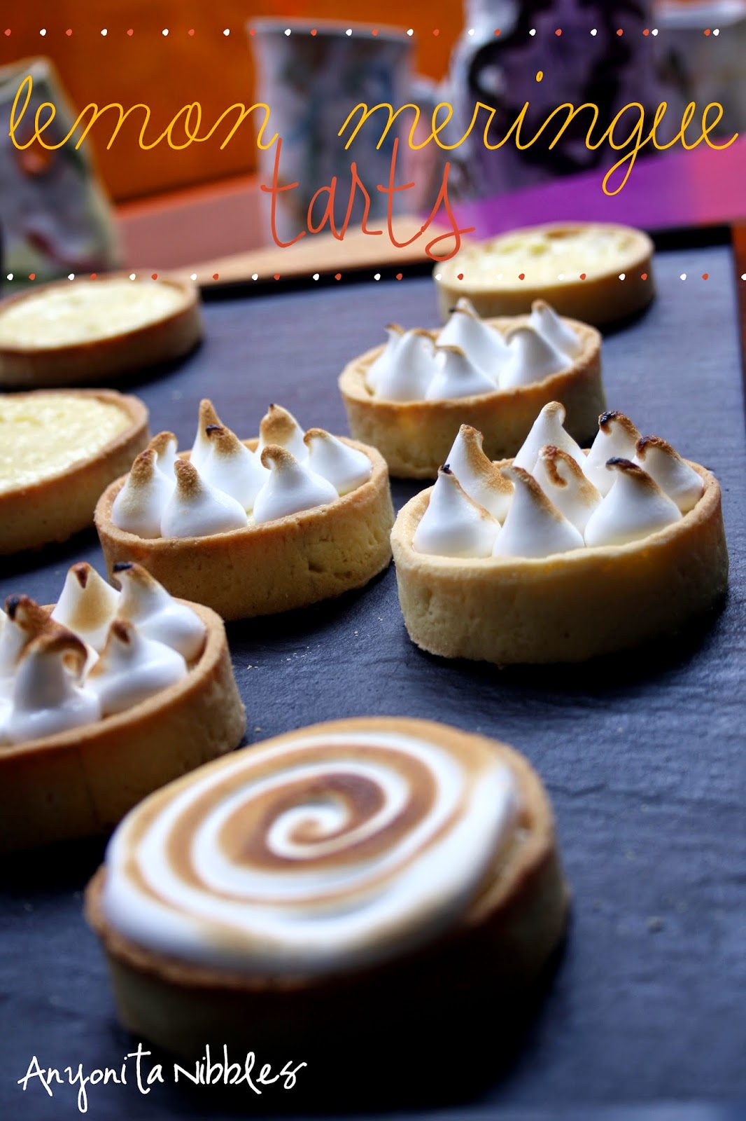 Lemon Meringue Tarts ready for eating from Anyonita Nibbles