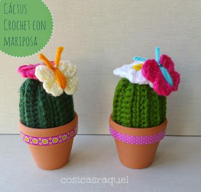 Cáctus Crochet con Mariposa Paso a Paso