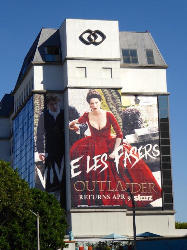 Outlander Vive Les Frasers season 2 teaser billboard