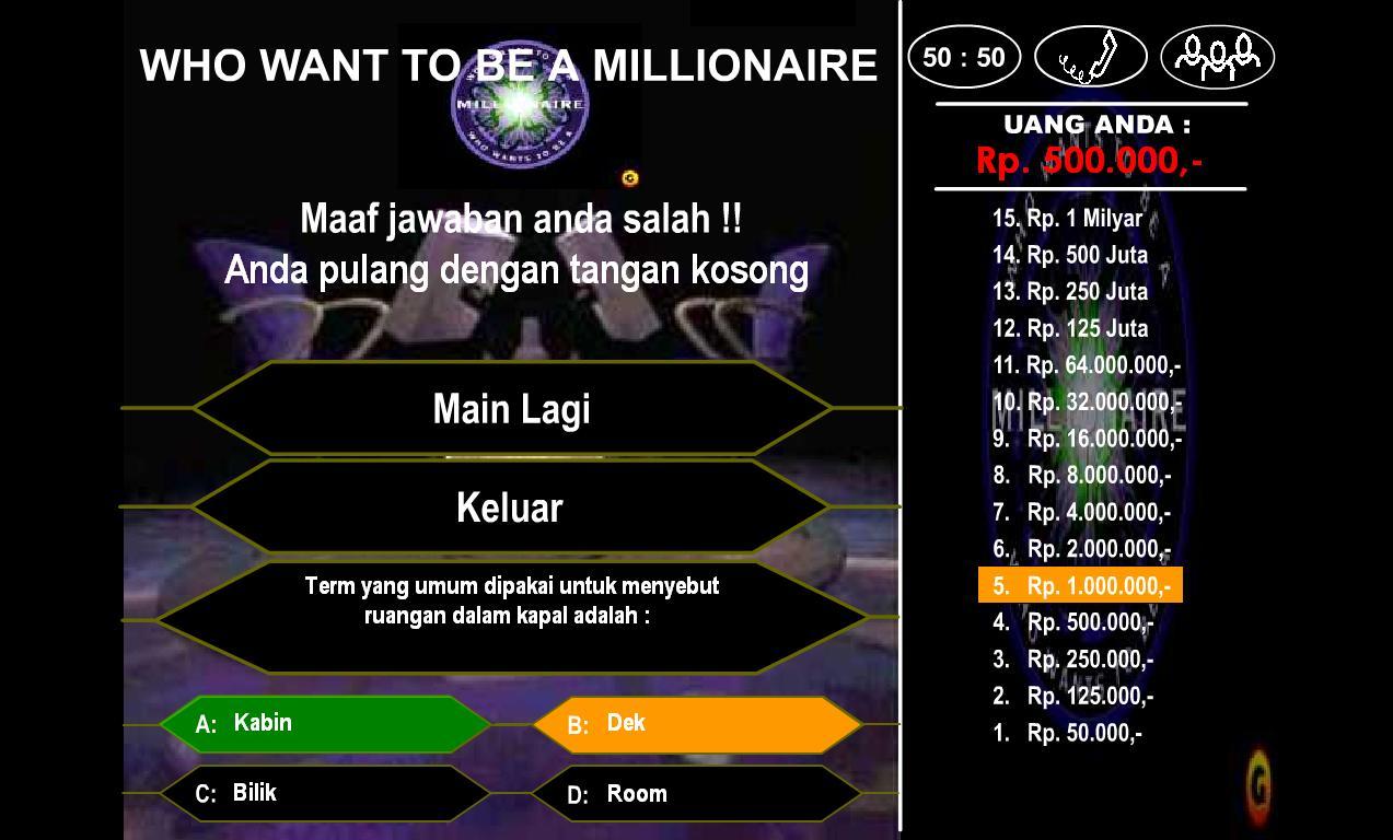 games millionaire versi indonesia online dating