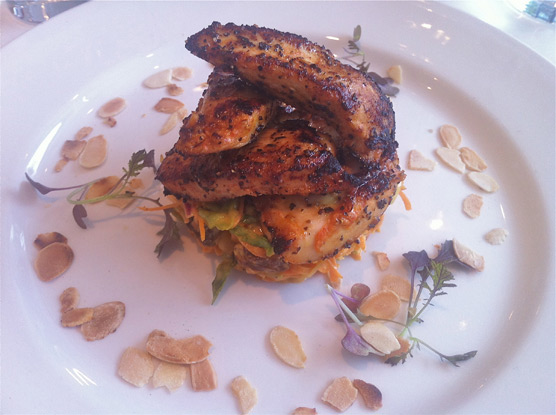 The Rose Garden - Coronation chicken -  spiced free range chicken breast, coronation coleslaw, toasted almonds