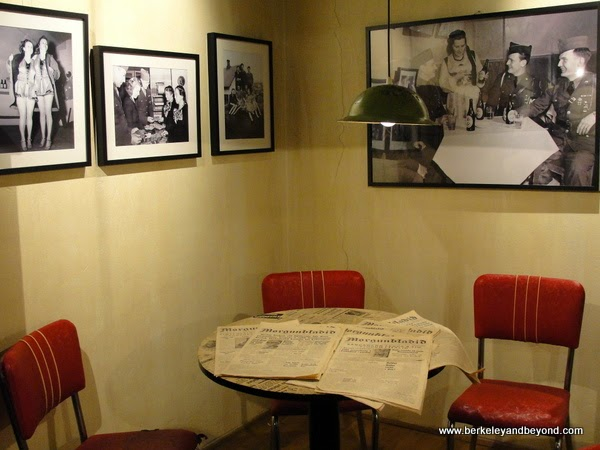 cafe displayl in Icelandic Wartime Museum in Reydarfjordur, Iceland