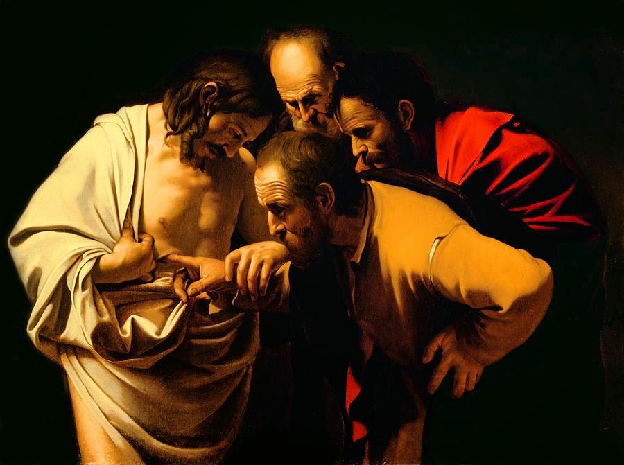 A Incredulidade de Tomé - Caravaggio e suas principais pinturas ~ O gênio rebelde