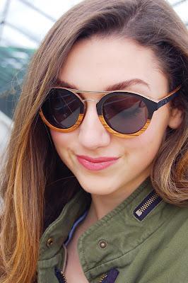 Kate Bartlett, teen blogger, wooden sunglasses, proof glasses, wood sunglasses