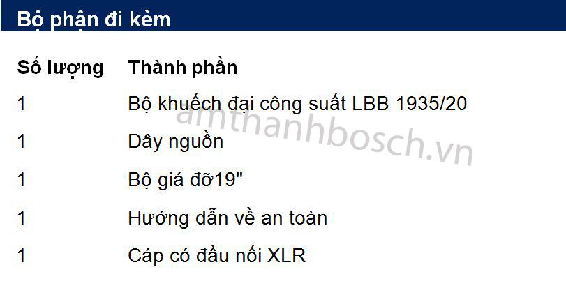 Bộ khuếch đại công suất Plena LBB 1935/20