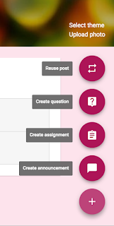 Posting options in Google Classroom™  www.traceeorman.com