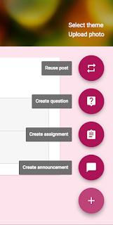 Posting options in Google Classroom™  www.traceeorman.com