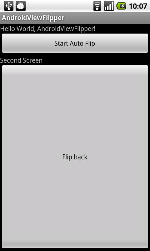 Android-er: Auto flipping of ViewFlipper