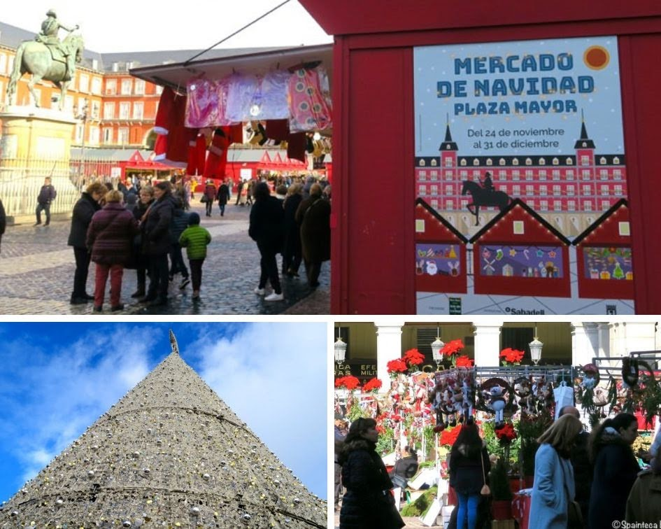 マドリードのクリスマス・マーケットを楽しむ人々