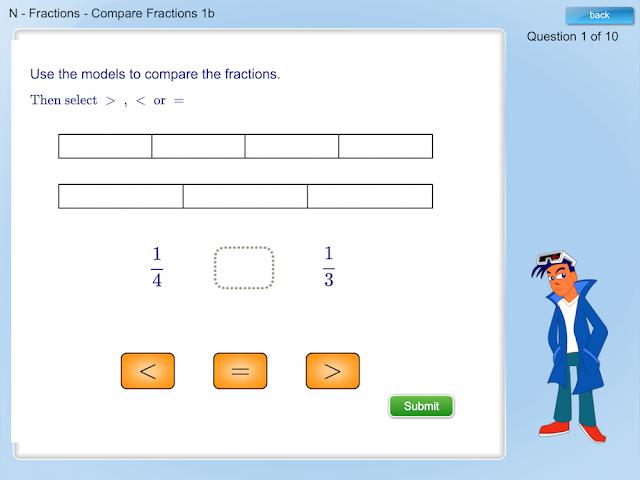 Mathletics.ca - Comparing Fractions