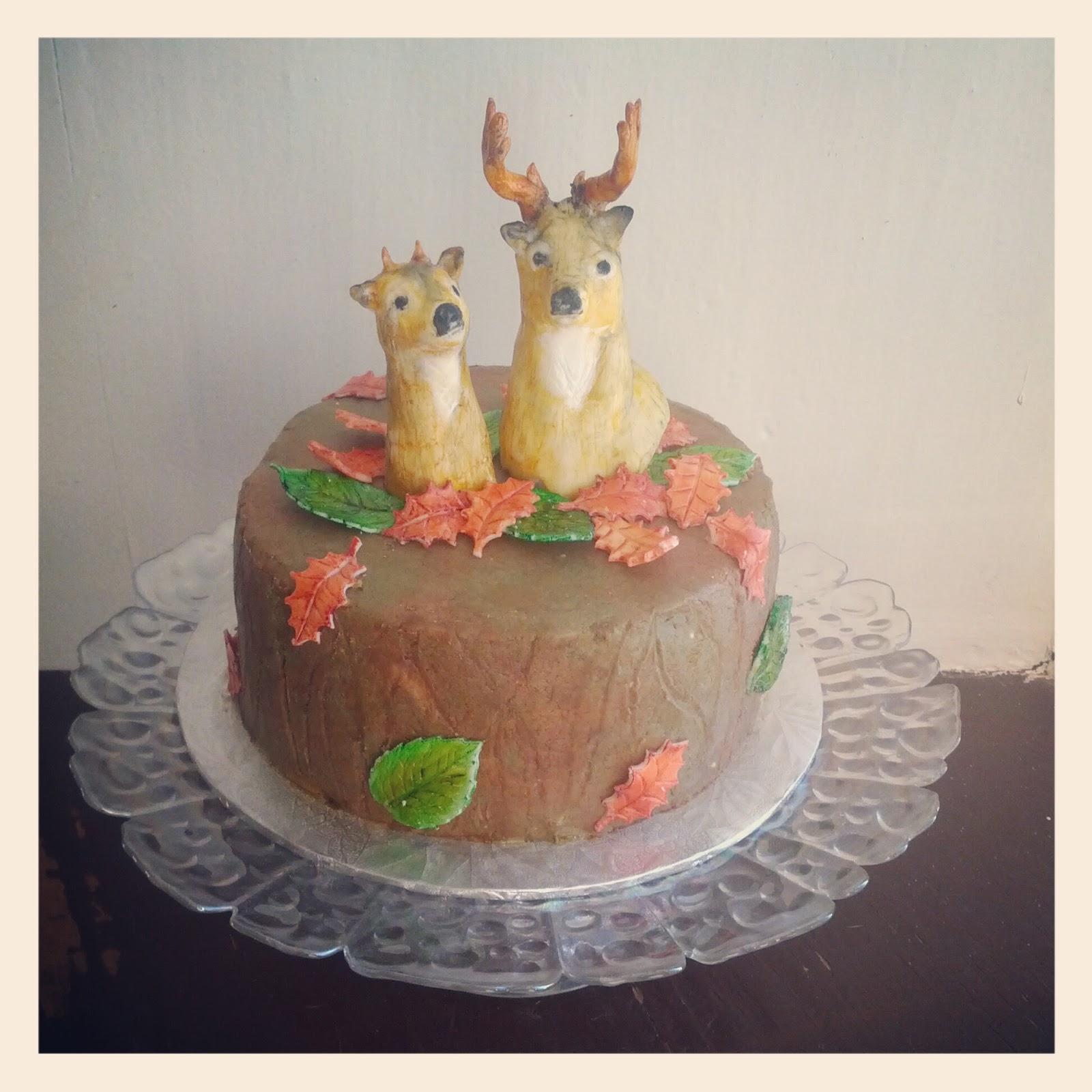 Second Generation Cake Design Deer Head Birthday Cake