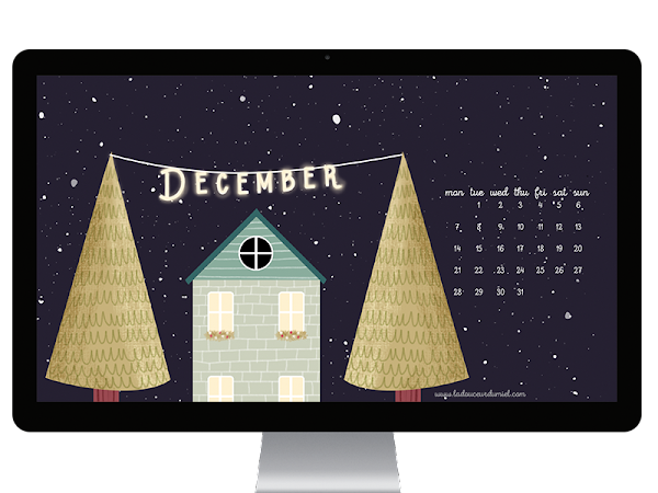 It's beginning to look a lot like Christmas! :) // December free desktop wallpaper