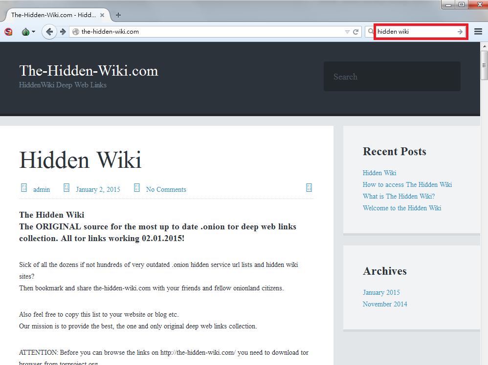 Hidden wiki website - Portfolio protection
