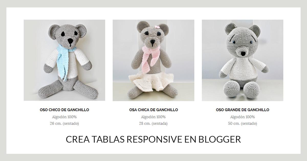 Tablas columnas responsive Blogger