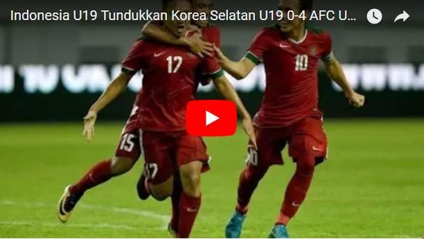 Timnas U-19 VS Korea Selatan U-19, 0-4