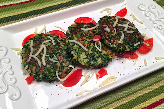 Points In My Life: Low-Point Spinach Mozzarella Patties