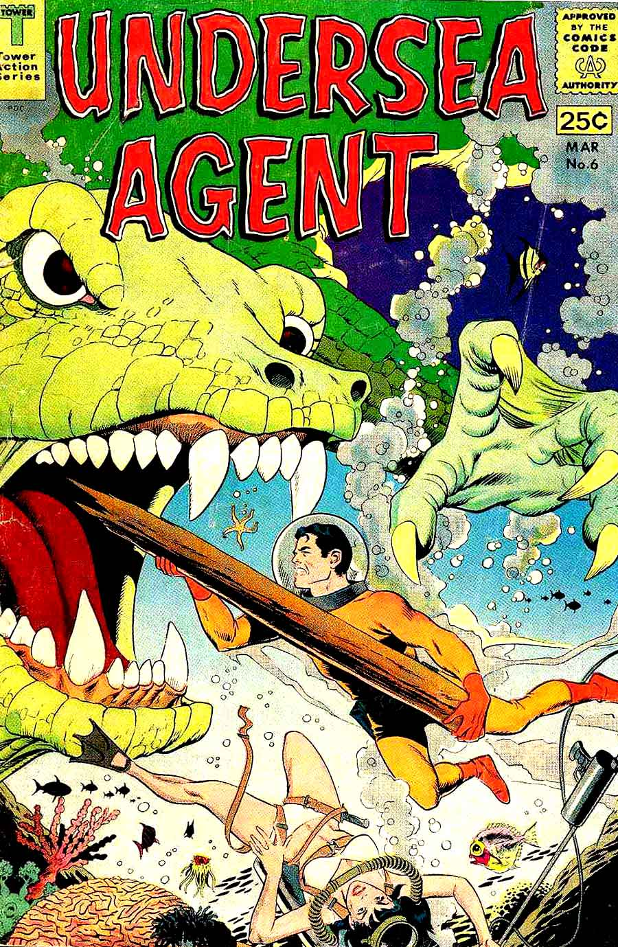 Undersea Agent v1 #6 tower silver age 1960s comic book cover art by Wally Wood
