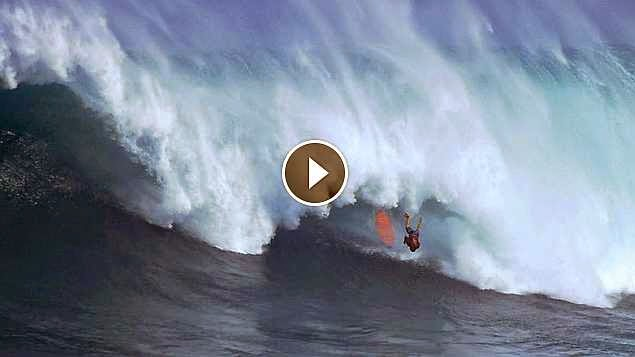 Tyler Larronde at Jaws - 2015 Wipeout of the Year Entry - XXL Big Wave Awards