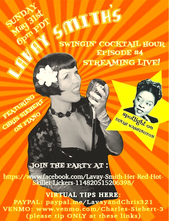 Lavay Smith's Swingin' Cocktail Hour, May 31