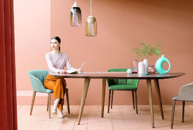 tavolo da pranzo in legno ovale TWEED di Zanotta