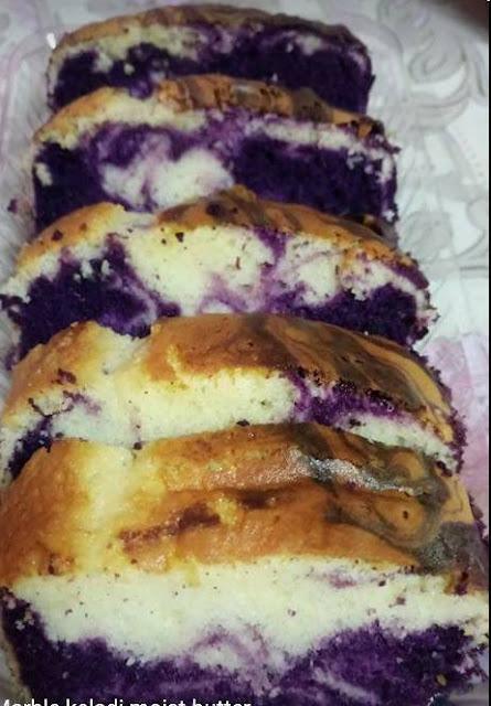 Resepi Kek Marble Keladi,Yam Marble Cake recipe