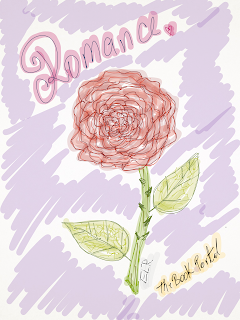 rose, sketch, graphic, romance, drawing, blog