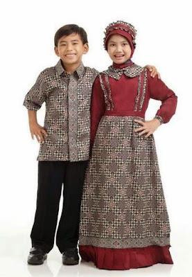 Model baju gamis batik perempuan