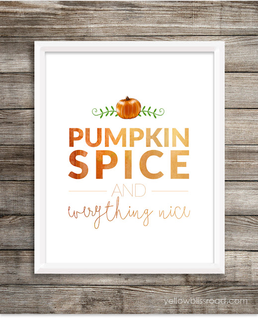 Pumpkins spice and everything nice printable