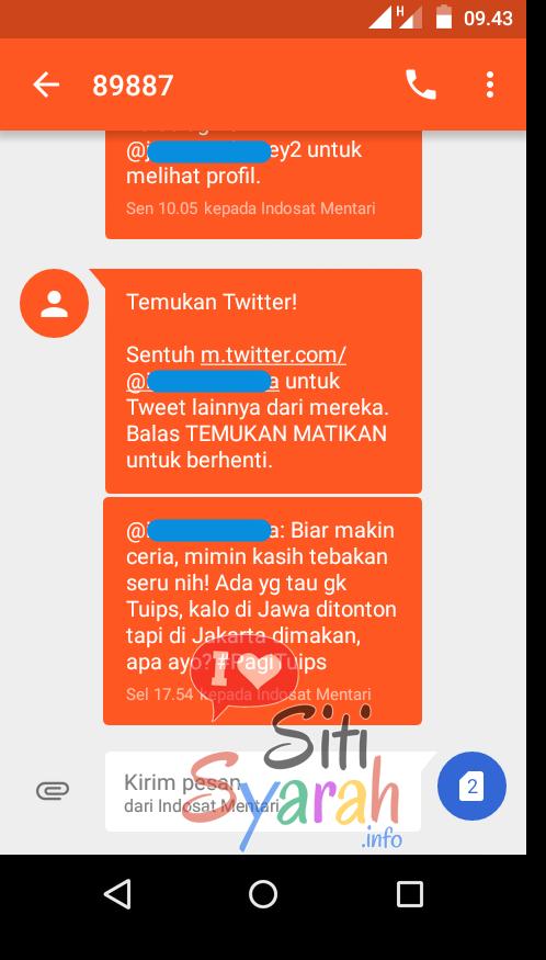 sms twitter