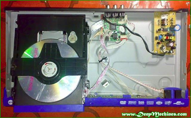 Gambar bagian dalam Mesin DVD/VCD/MP4/MP3 Player + USB