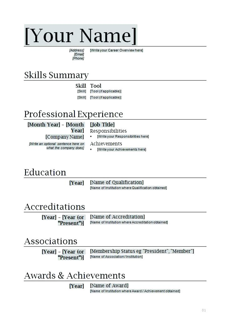 Create Resume Template 2019 - Lebenslauf Vorlage Site