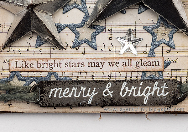 Layers of ink - Sparkling Silver Star Christmas Ornament by Anna-Karin Evaldsson with Tim Holtz Christmas idea-ology.