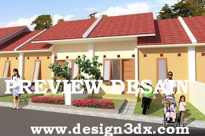 Jasa desain perumahan genteng beton merah natural