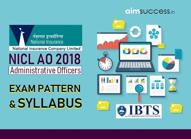 NICL AO 2018-19 Syllabus and Exam Pattern