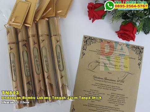 Undangan Bambu Lubang Tengah 22cm Tanpa Stick