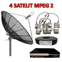 Pasang Antena Parabola 4 satelit mpeg4