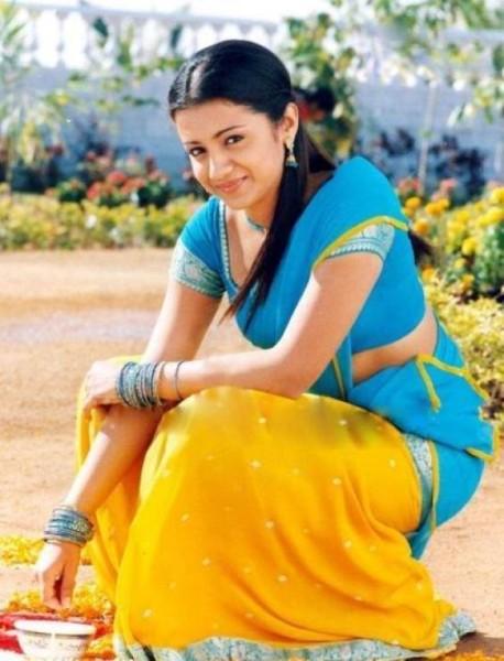 Trisha Krishnan Cute images In Saree Movie Images
