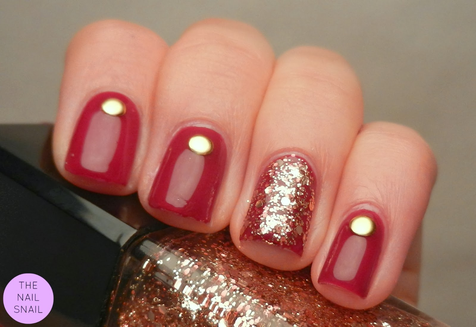 Red And Gold Nails | Joy Studio Design Gallery - Best Design