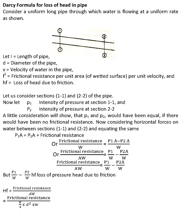 technical theory: Flow Through Pipes