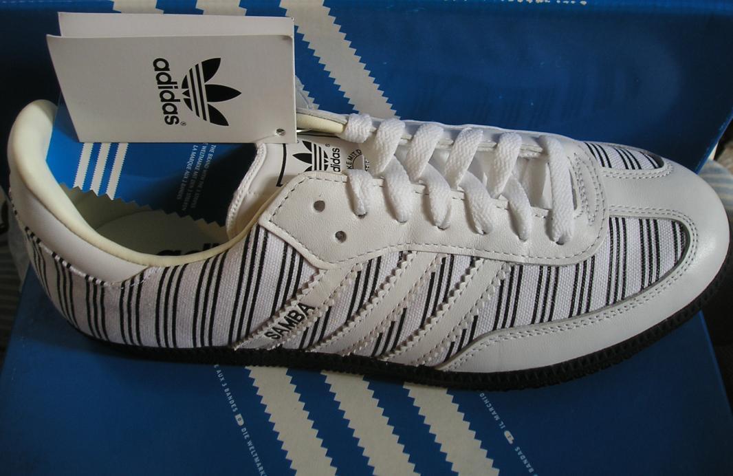 Lógico Meandro pereza  Guardalas que son mías ----- www.ZAPATI.com.ar: Adidas Samba blancas con  negro talle 39 oferta! 240