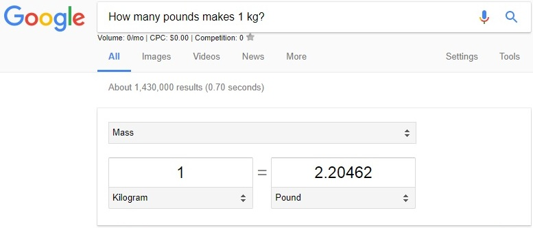 use google as converter