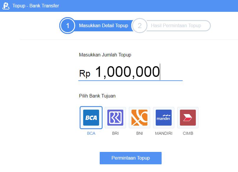 Cara Tambah Saldo (Top Up) di AirPay Indonesia via Bank Transfer