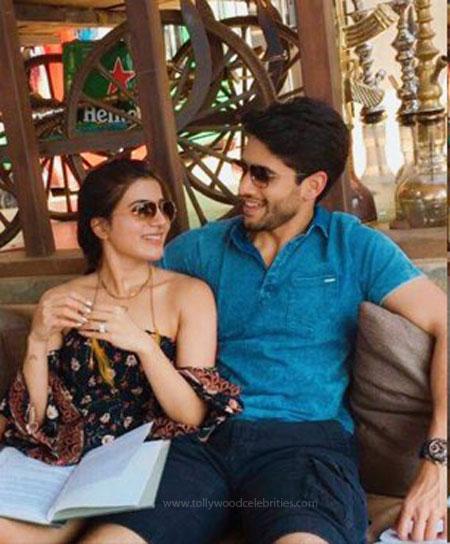 Samantha Naga Chaitanya Latest Romantic Photo